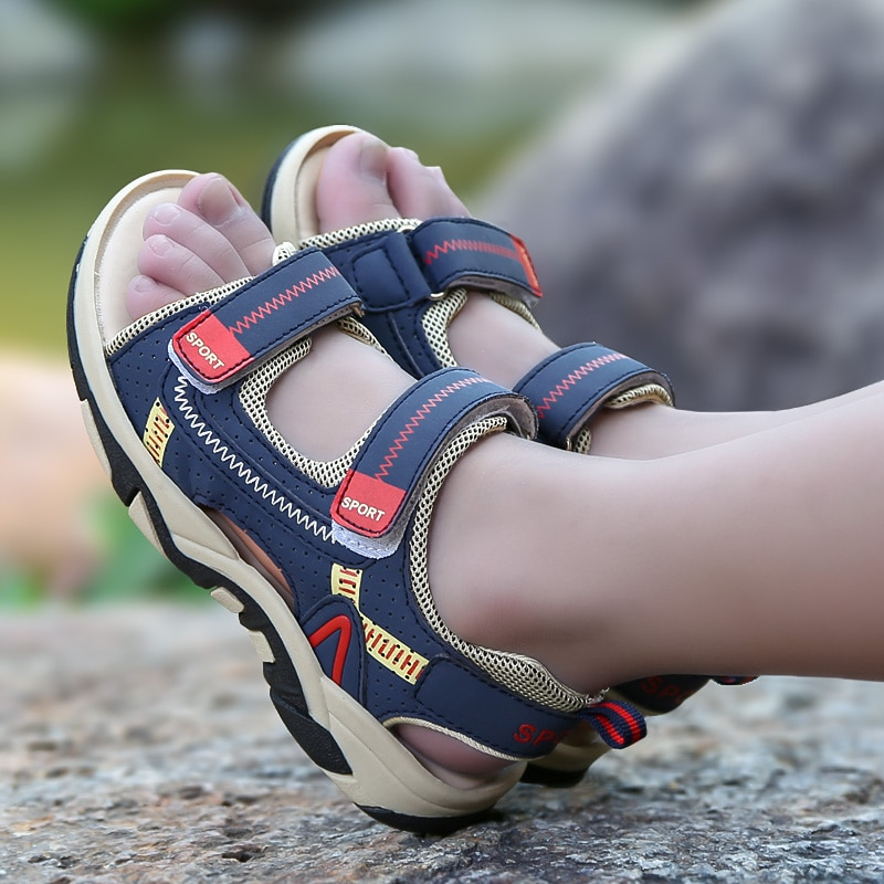 2021 Summer Kids Shoes Brand Closed Toe Toddler Boys Sandals Orthopedic Sport PU Leather Baby Boys S