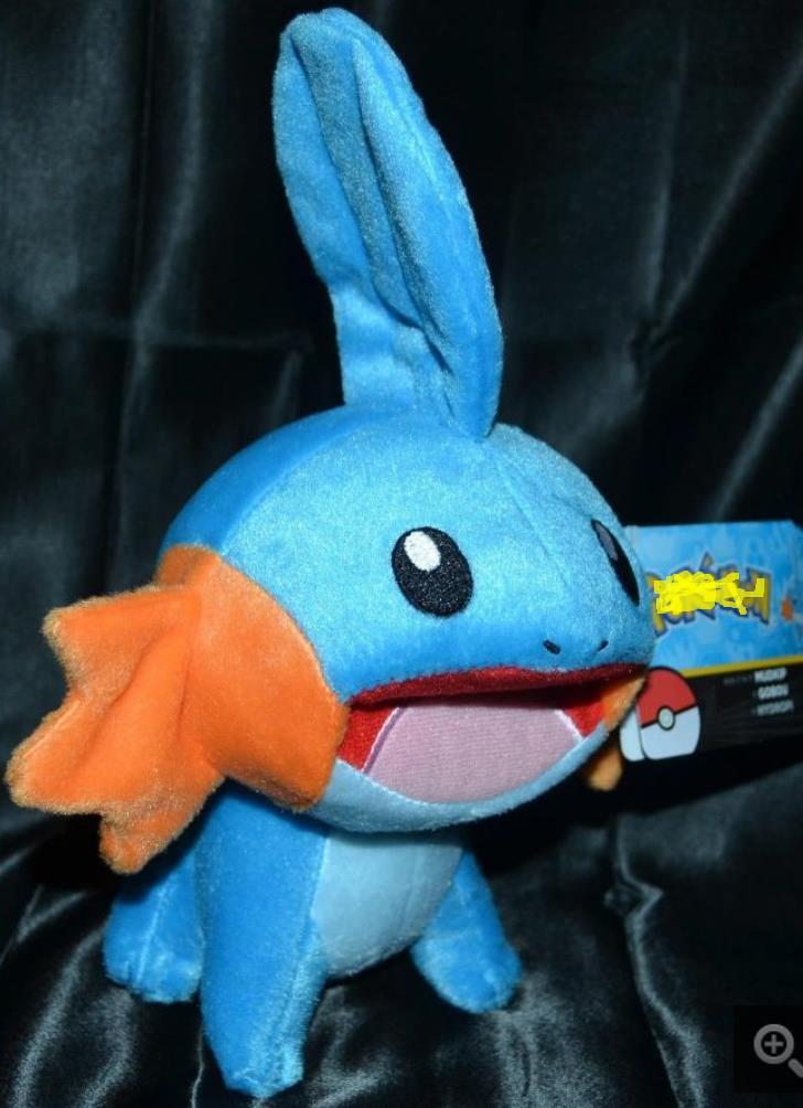 """9.5 """"oficial tomy mudkip pelúcia bonecas brinquedos animais enchidos starter"""