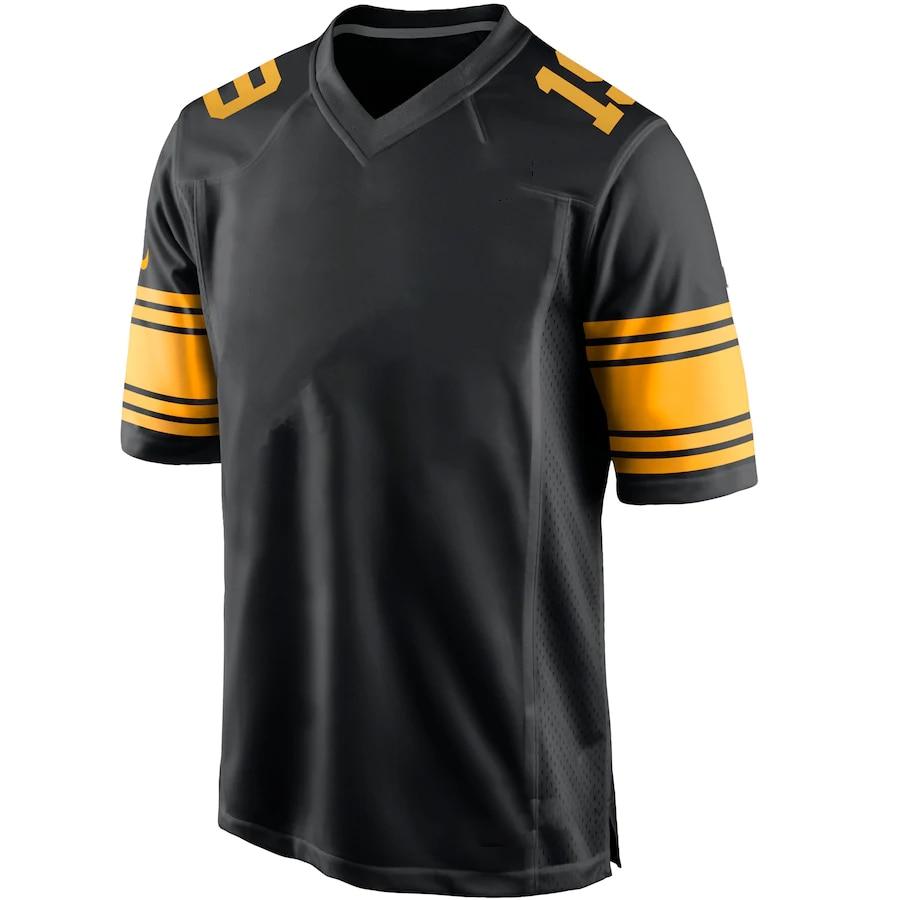 Футболка для американского футбола, мужские футболки из Питтсбурга, футболки на заказ, футболки с фанатами Харриса поламалу фитзпатрика бе...