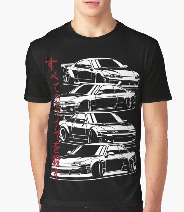 Camiseta estampada para hombre, camisetas de algodón con cuello redondo para matar a todos los neumáticos. Silvia S13, S14, S15 Camiseta de manga corta para mujer