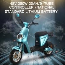 GTR6 리튬 전기 오토바이 스쿠터 두 바퀴 350W 48V Removbale 배터리 전기 자전거 성인 여성을위한 자전거 남자