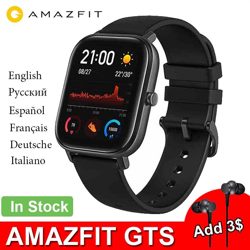 Смарт-часы Amazfit GTS, умные часы Huami с пульсометром и GPS, водонепроницаемые 5 АТМ, совместимы с Android и IOS
