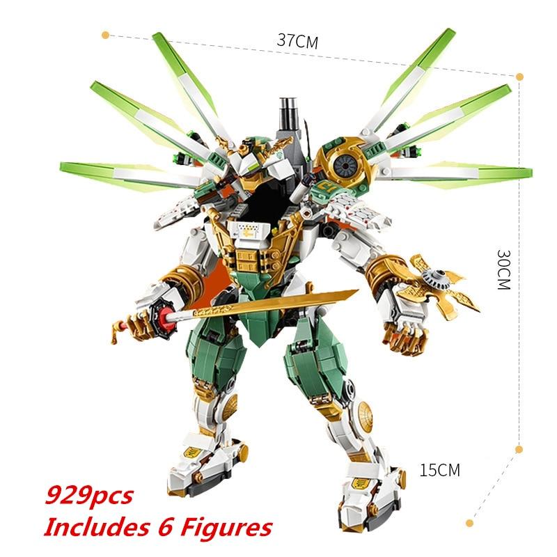 Nuevo Ninja Lloyds Titan, bloques de construcción Mech compatibles con ninjagoes, modelo de película Robot clásico, juegos de figuras, regalos de juguetes para niños