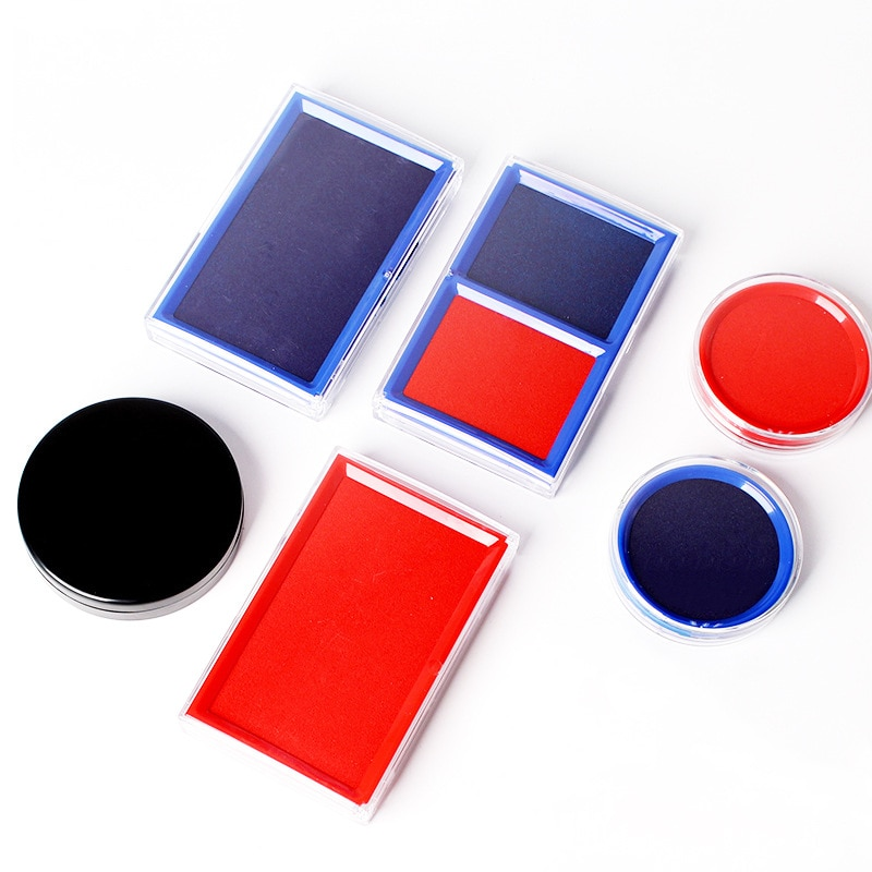 Engraving stamp ink pad Flash Stamp Seal Red Ink Pad For Office Stamps Sealing Decoration Accessories Supplies