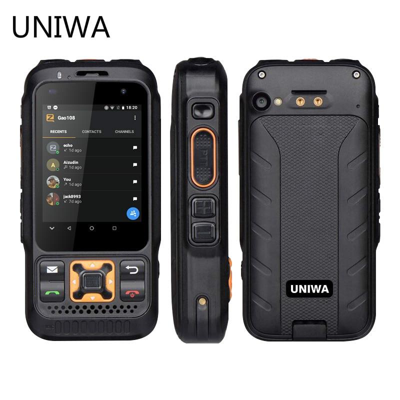 UNIWA F30S Dual Version Zello Walkie Talkie Smartphone FDD-LTE 4G GPS 1GB+8GB Android 8.1 Quad Core Dual Camera Mobile Phone
