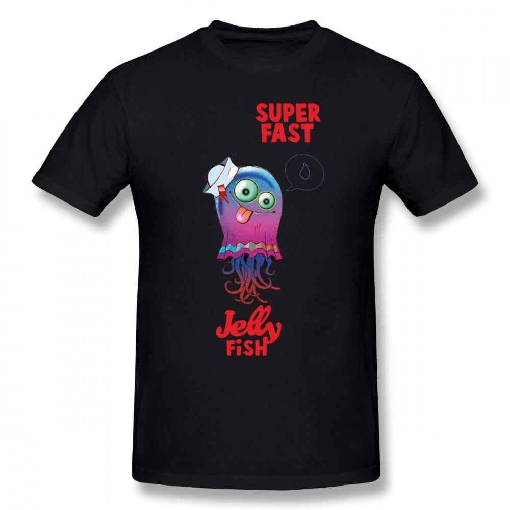 Koszulka Gorillaz superszybka koszulka meduzy ponadgabarytowa koszulka Streetwear 100% bawełna krótki rękaw zabawa drukuj mężczyzna Tshirt