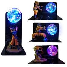 Dragon Ball Super Goku végéta Gogeta Figuras lumière LED Dragon Ball lampe Ultra Instinct Goku chambre décorative veilleuse cadeaux