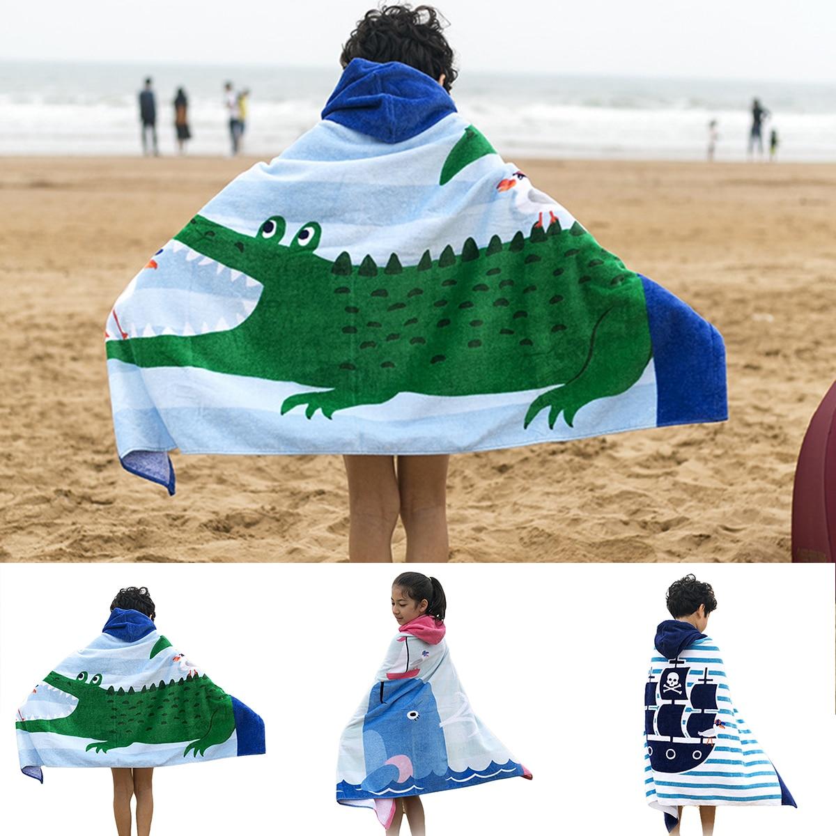 منشفة استحمام كبيرة للأطفال مقاس 127 × 76 سنتيمتر ، غطاء منشفة قطن فائق الامتصاص للأطفال الصغار ، منشفة سباحة للشاطئ