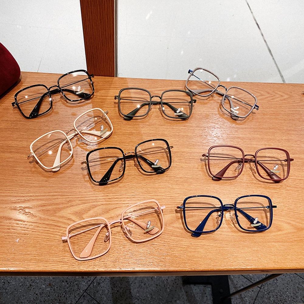 Glasses Computer Eyeglasses Anti-blue Light Candy Color For Women Oversize Myopia Vintage Female All