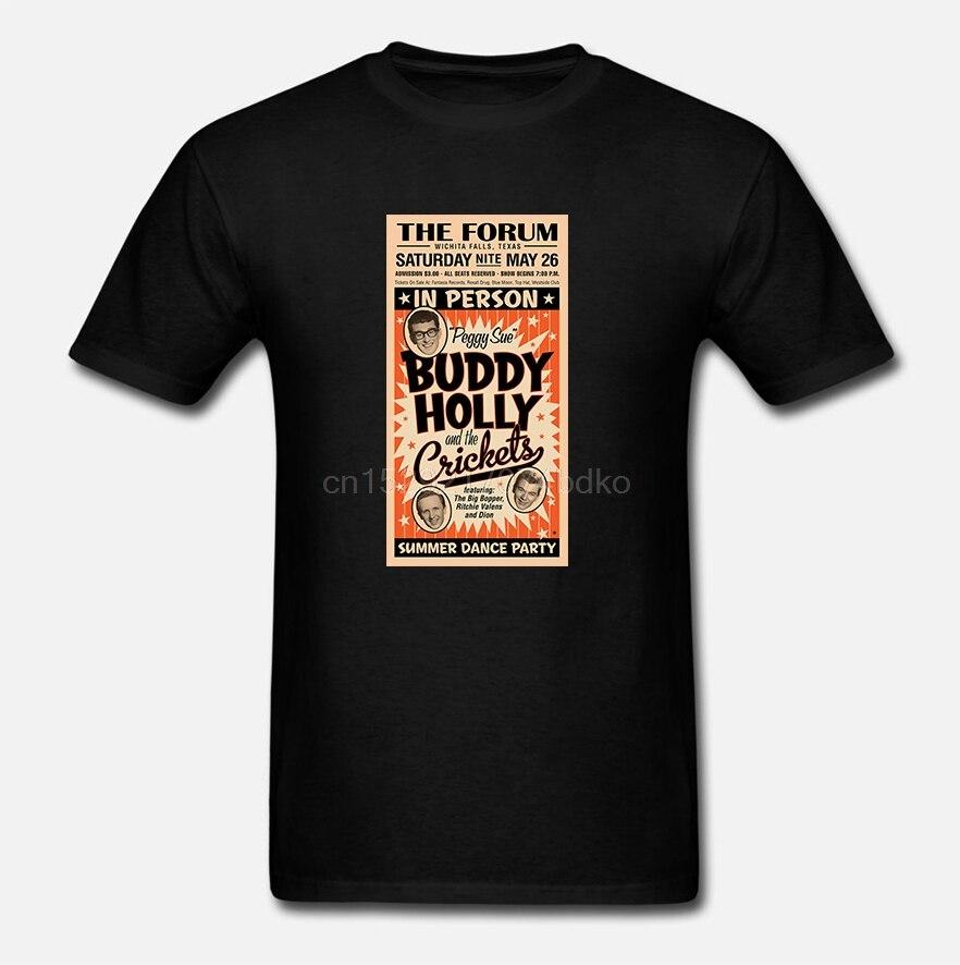 Hombres Camiseta de manga corta de mujer camiseta Buddy Holly para hombre Camiseta