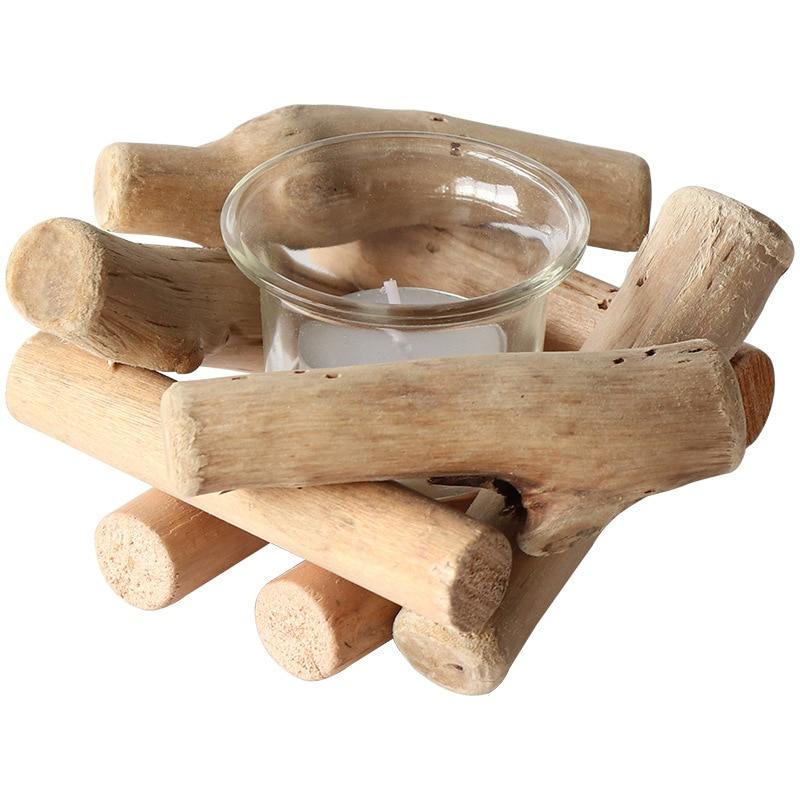 Driftwood nueva decoración China artesanía para regalo candelero de estilo europeo artesanía de madera decoración creativa del hogar