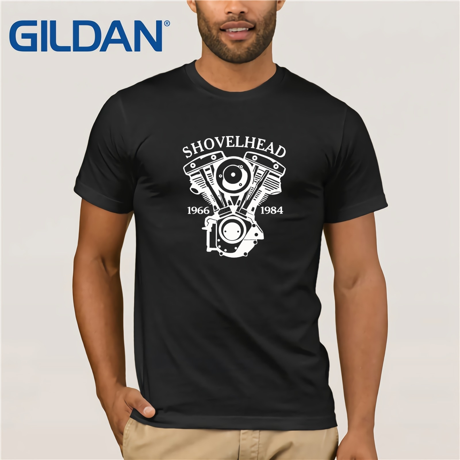 Camiseta de motociclista de leyenda clásica americana Shovelhead Motorrad Chopper Bobber 2019 moda de Color para hombres