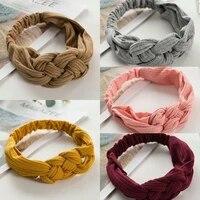 fashion women girls elastic hair knot headband turban headwrap braid hairband twist cotton head band bandage hair accessories