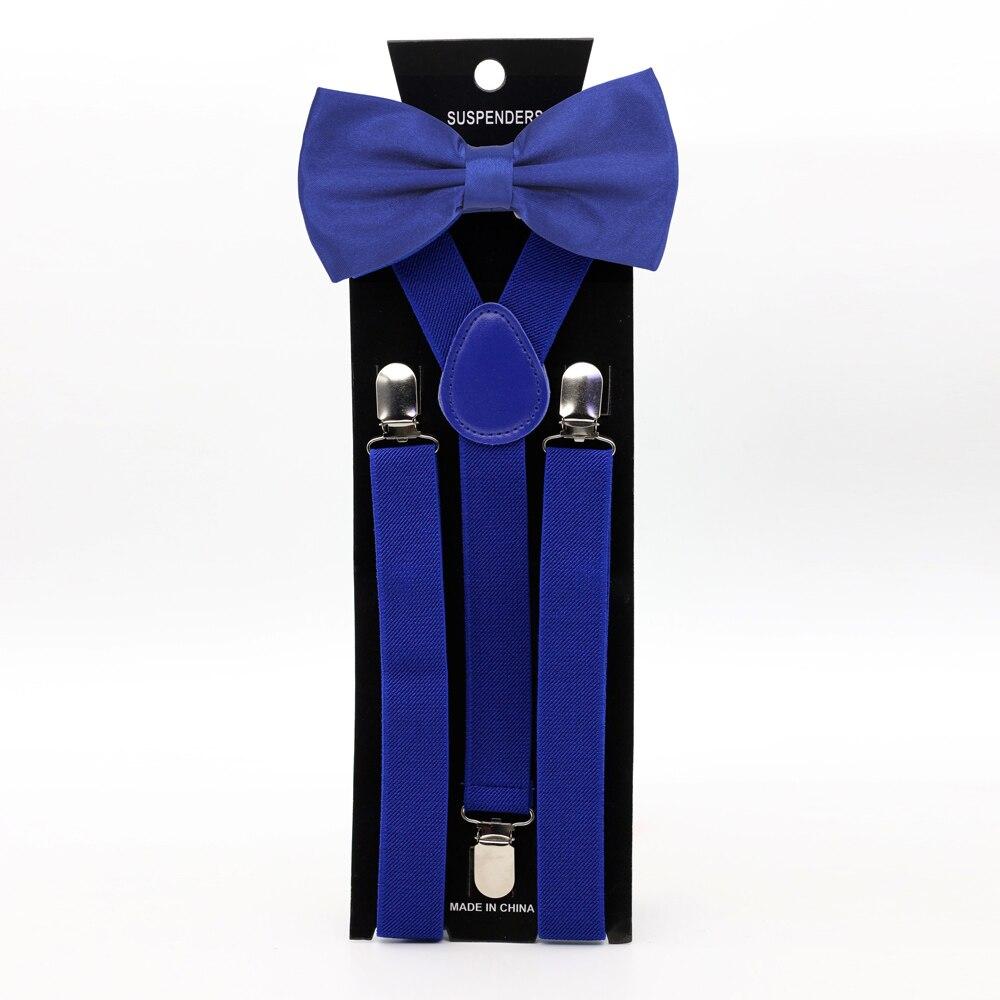 HUISHI мужские однотонные подтяжки бант галстук комплект полиэстер 13 красочный очаровательный Y-образная спина подтяжки бабочка взрослый регулируемый галстук-бабочка мода