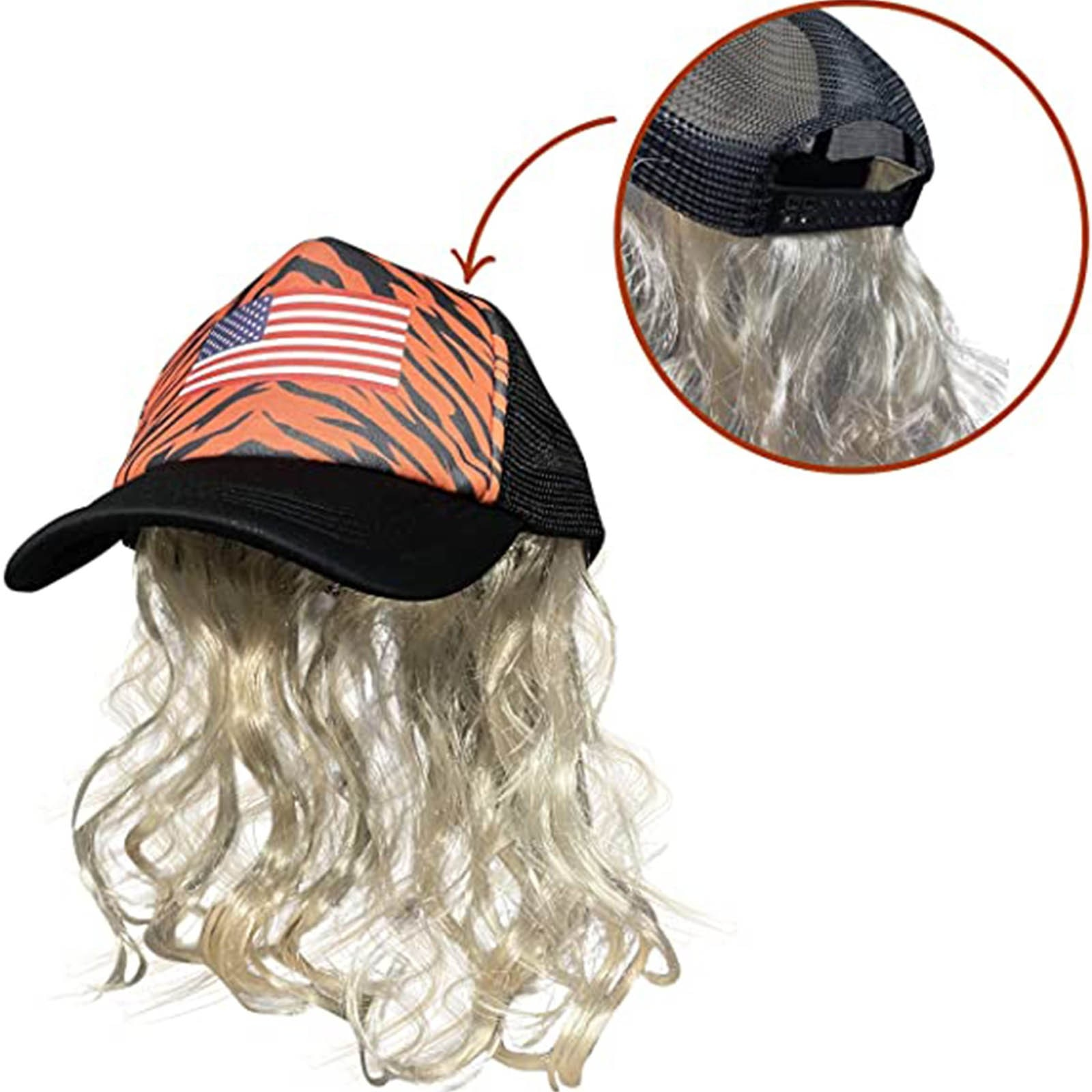 Role-playing Suit Tiger King Costume Set Joe Exotic Cosplay Blonde Wig With Hat, Clip Earrings Mustache Fits Kids And Adults
