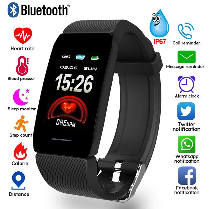 1.14 Smart Band Weather Display Blood Pressure Heart Rate Monitor Fitness Tracker Smart Watch Bracelet Waterproof Men Women Kids