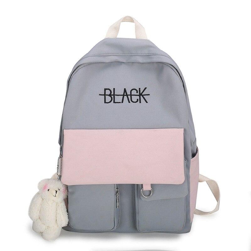 Модный милый женский рюкзак Harajuku Ulzzang, школьный рюкзак для девочек из хлопчатобумажной ткани, милый школьный рюкзак для девочек-подростков