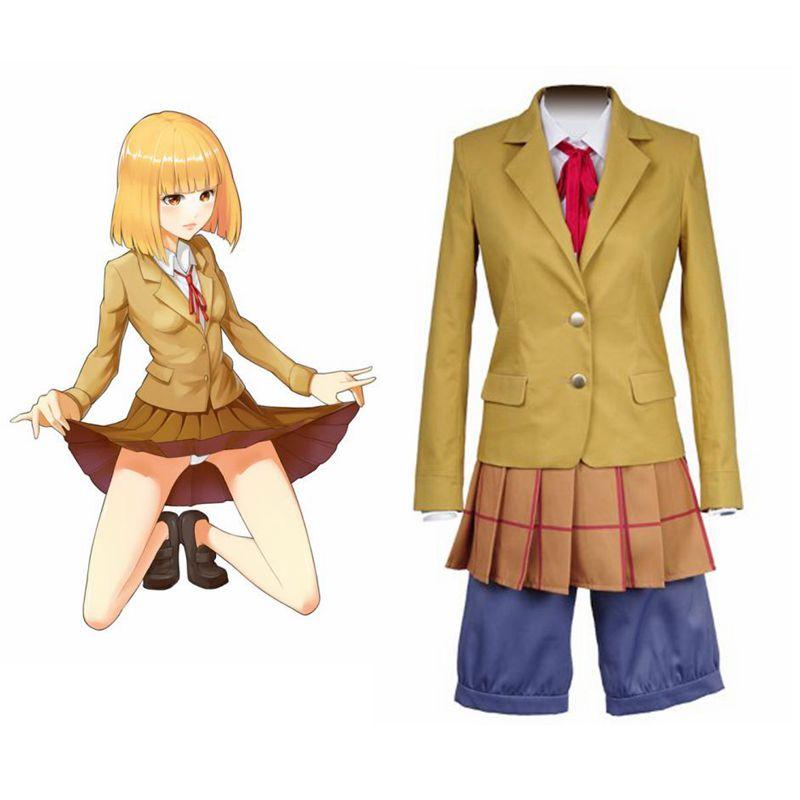 High-Q Unisex Anime porque la prisión la escuela midorikawa hana la escuela disfraces, uniformes Cosplay juegos