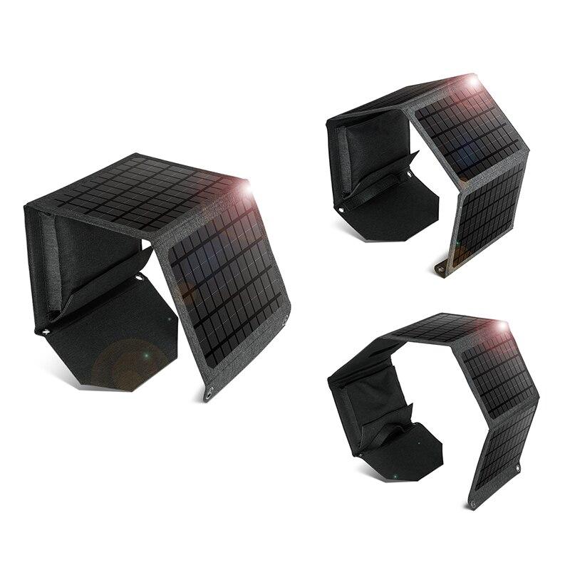 6 فولت طوي المحمولة شاحن بالطاقة الشمسية مع 2 منفذ USB ل هاتف محمول ، لوحة طاقة شمسية الشمس الطاقة للتخييم التنزه