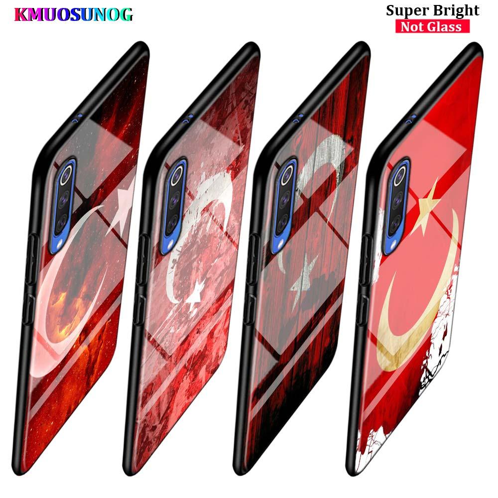 Турецкий флаг искусства для samsung Galaxy A80 A70 A60 A50 A40 A20E A2Core A10 Супер Яркий глянцевый черный чехол для телефона