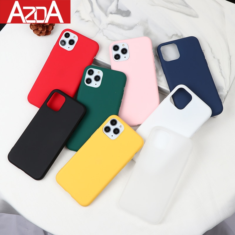 Новые цветные силиконовые чехлы для iPhone 11 Pro Max XR X XS Max 6 6S 7 8 Plus 5 5S SE 2020 чехол для телефона карамельный цвет мягкий простой модный