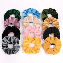 Pocket Zipper Fashion Design Solid Color Hair Tie for Women Female Scrunchie Ponytail Hair Holder Rope Headwear Hair Accessories