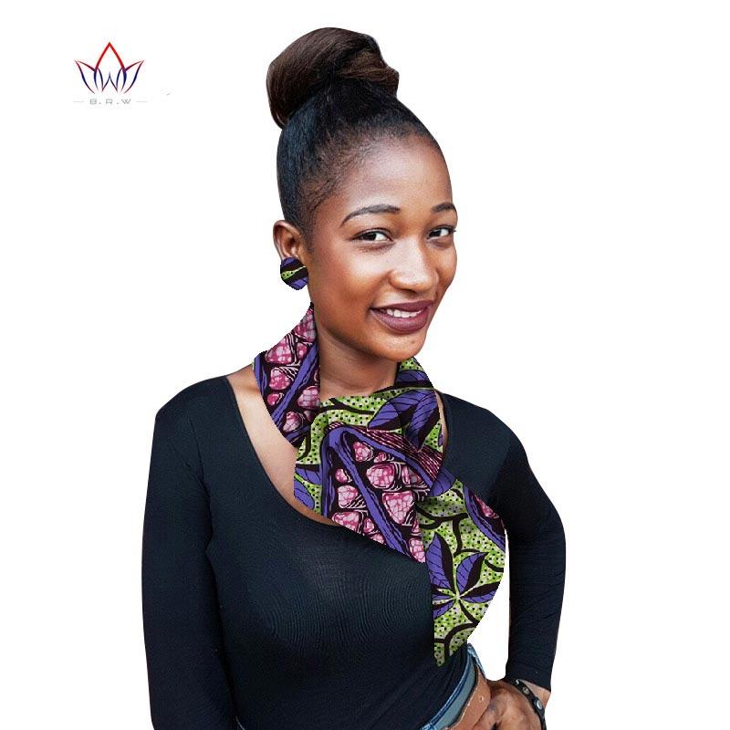 Brw africano impressão colar para acessórios de vestuário feminino africano ancara tecido de impressão gargantilhas colares colar para camisola wyb60