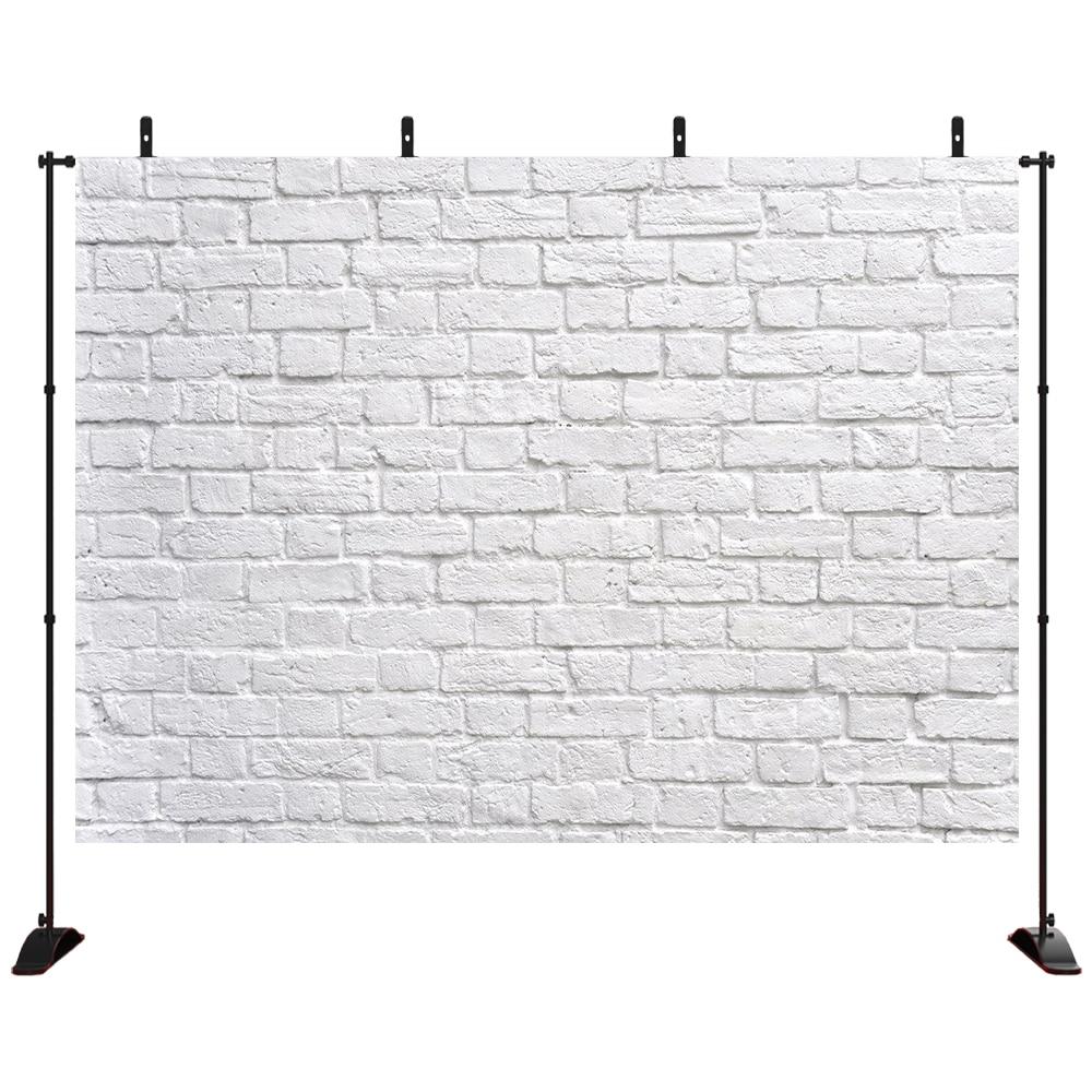 Retro fundo de parede de tijolos brancos fundo de parede de pintura do vintage fundo de fotografia cabine de festa banner recém-nascido adulto retrato de parede
