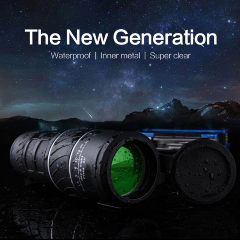 Telescopio Monocular de 40x60 pulgadas, visión nocturna, foco, telescópico militar, HD, profesional, para caza y exteriores