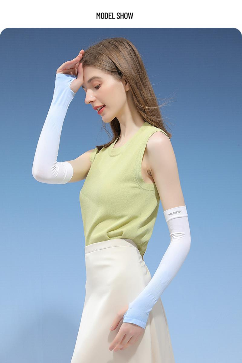 Ice Silk Arm Protection Anti-slip Sunscreen Sleeves Men And Women Gloves For Outdoor Riding Equipment Sleeves Summer UK