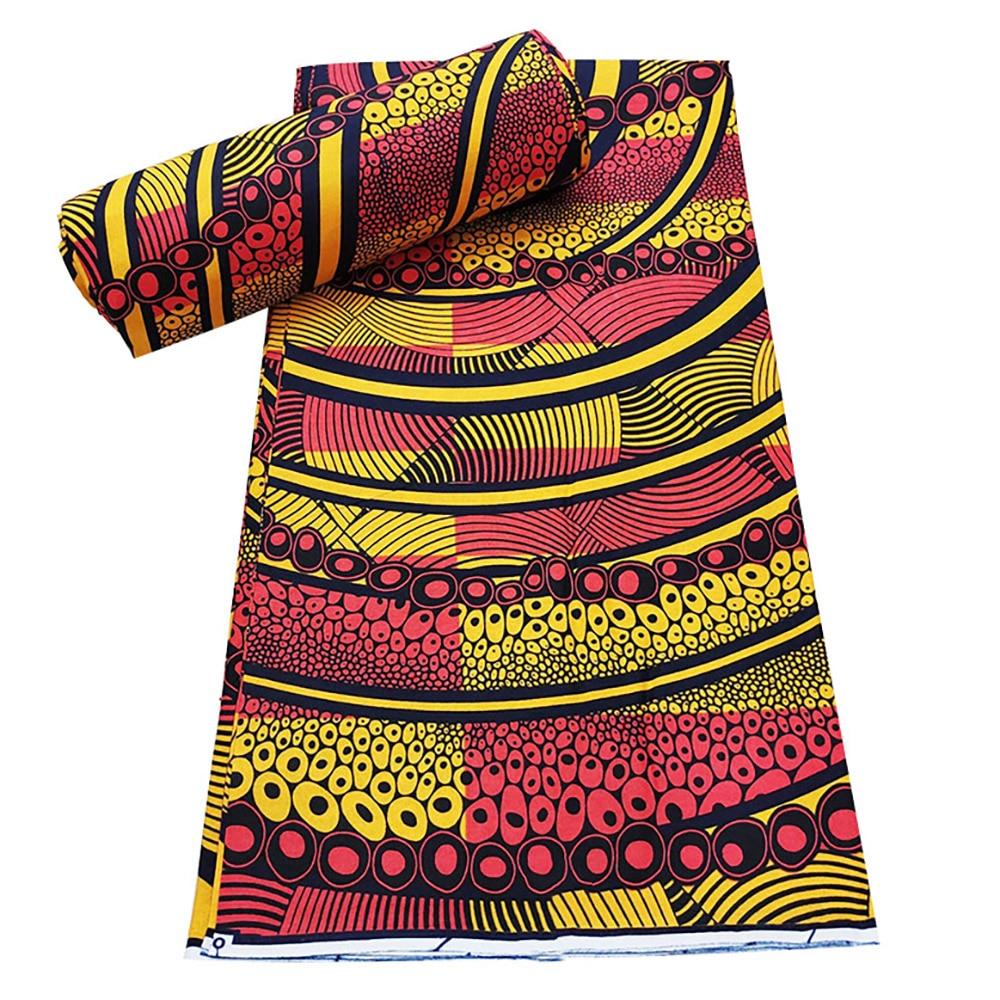 الأفريقية قماش طباعة شمع 100% القطن الشمع الحقيقي النيجيري طباعة الشمع النسيج 6 ساحة لل فساتين الخياطة النسيج 6 ياردة