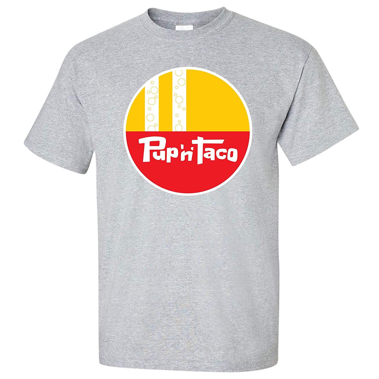 Футболка TSDFC Pup 'N' Taco-Defunct с цепочкой для фаст-фуда-серая версия Унисекс Мужская женская футболка