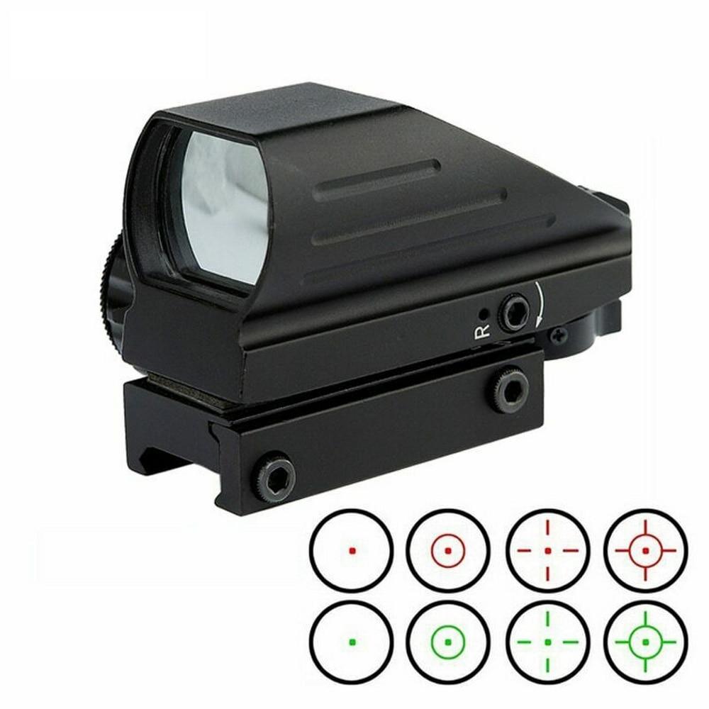 20mm Schiene Rot Grün Dot Anblick Scop Jagd Optik 4 Absehen Umfang Kollimator Anblick Holographische Umfang Für Jagd Mit batterie