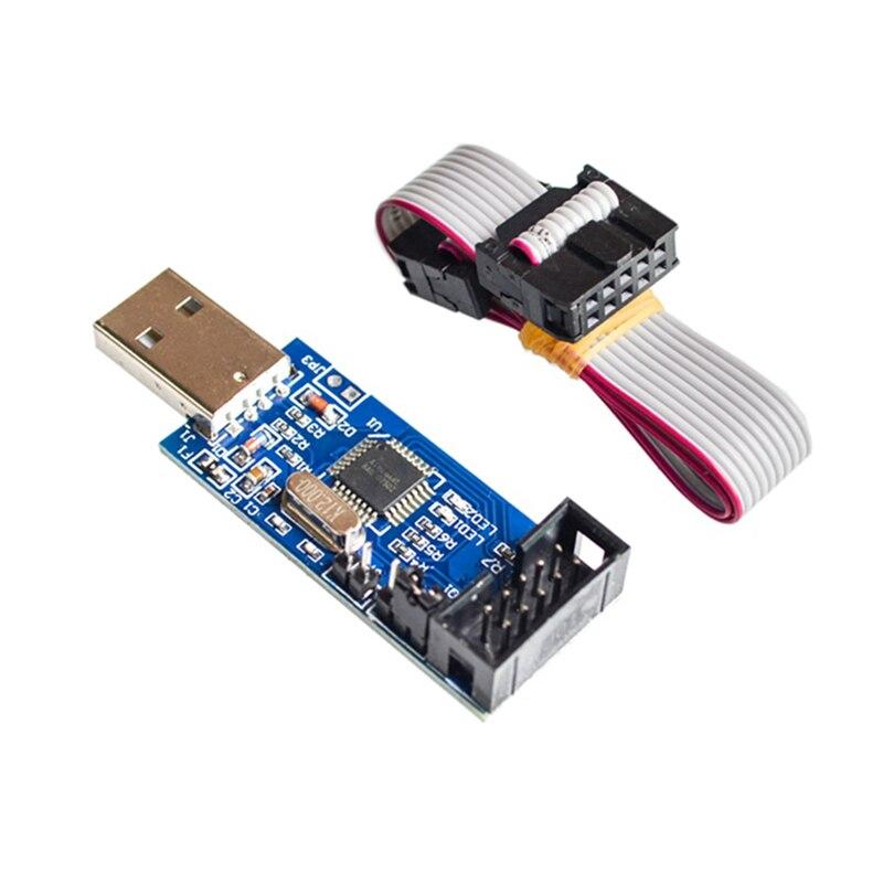 10Pin к 6 Pin плата адаптера + USBASP USBISP AVR программатор USB ATMEGA8 ATMEGA128 ATtiny/CAN/PWM 10Pin модуль провода DIY