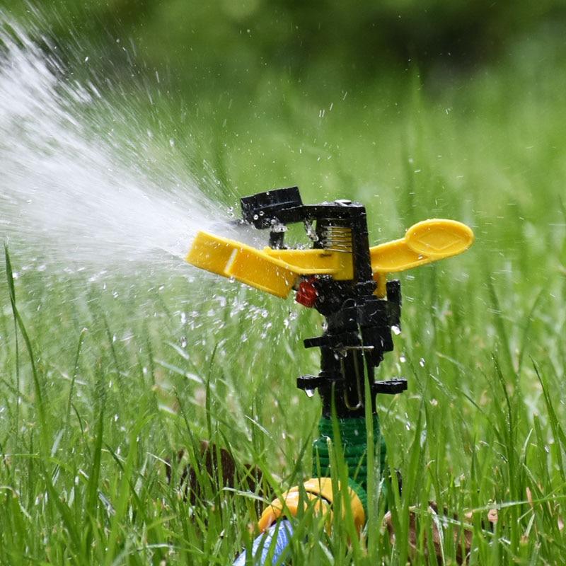 """Boquilla rotativa de agua para aspersores de jardín, aspersor balancín macho de 1/2 """"3/4 grados, riego de ángulo ajustable, 1 Uds"""