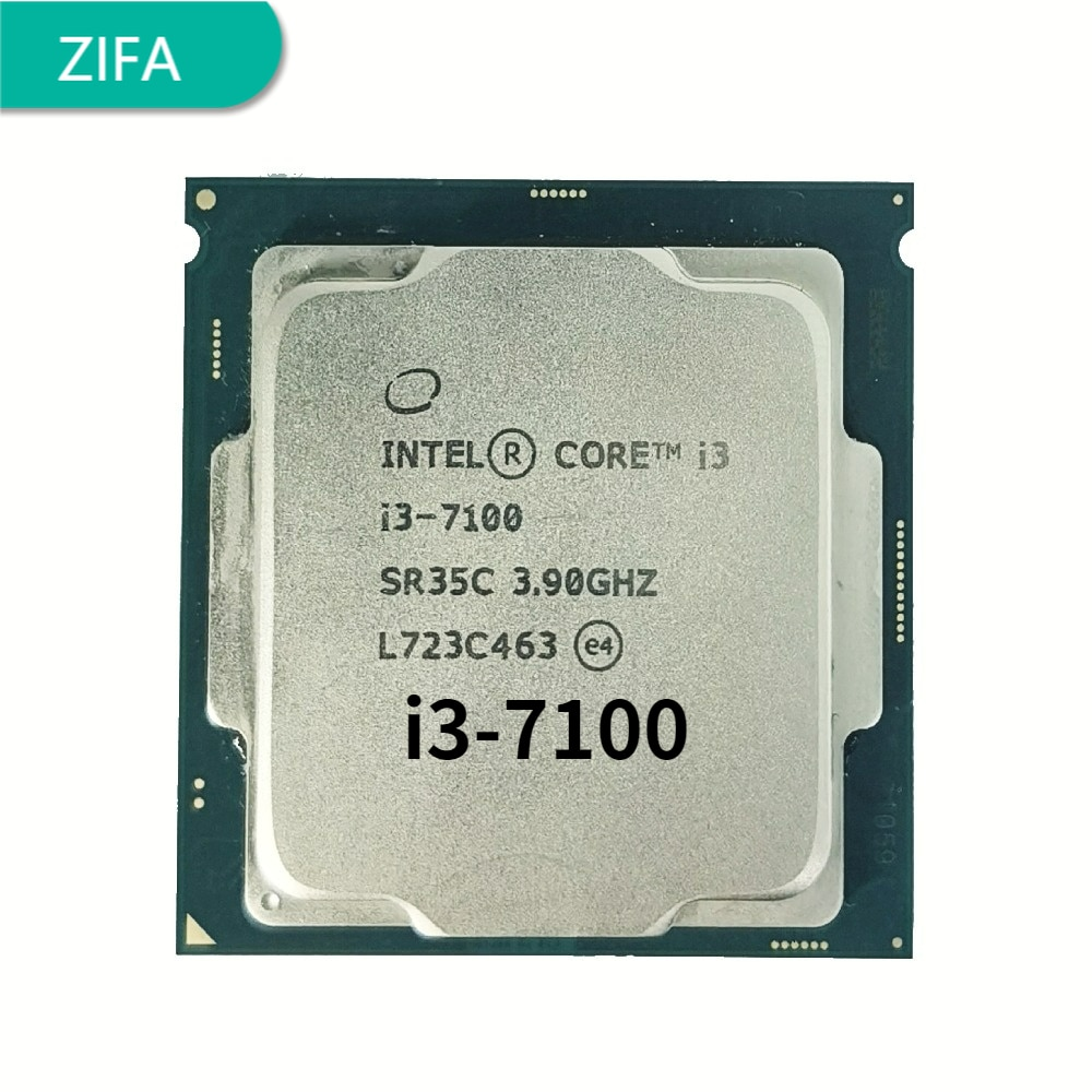 I3 7100 3.9GHz 3M 2 النواة 4 الموضوع 51w LGA1151 المعالج سطح المكتب ddr3 ذاكرة عشوائية