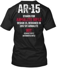 Patriotic Ar15 V5 M 0019 - Ar-15 Stands For Armalite Popular Tagless Tee T-Shirt
