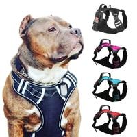 Шлейка для собак, дышащая, без растяжки, маленькая, средняя и большая жилетка, регулируемый поводок, Светоотражающий ошейник для собак, дрес...