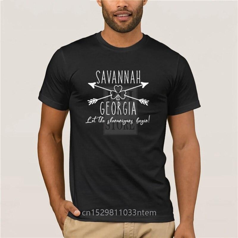 Trendy Kreative Grafik T shirt Top Savannah Georgia St Patricks Day Street Kurzarm T Hemd 100% Baumwolle