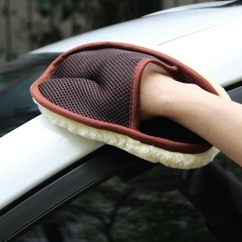Nuevos cepillos de limpieza para el cuidado del coche cepillo de guante de limpieza de lana súper limpia para el coche esponja para limpiar el coche herramienta de limpieza