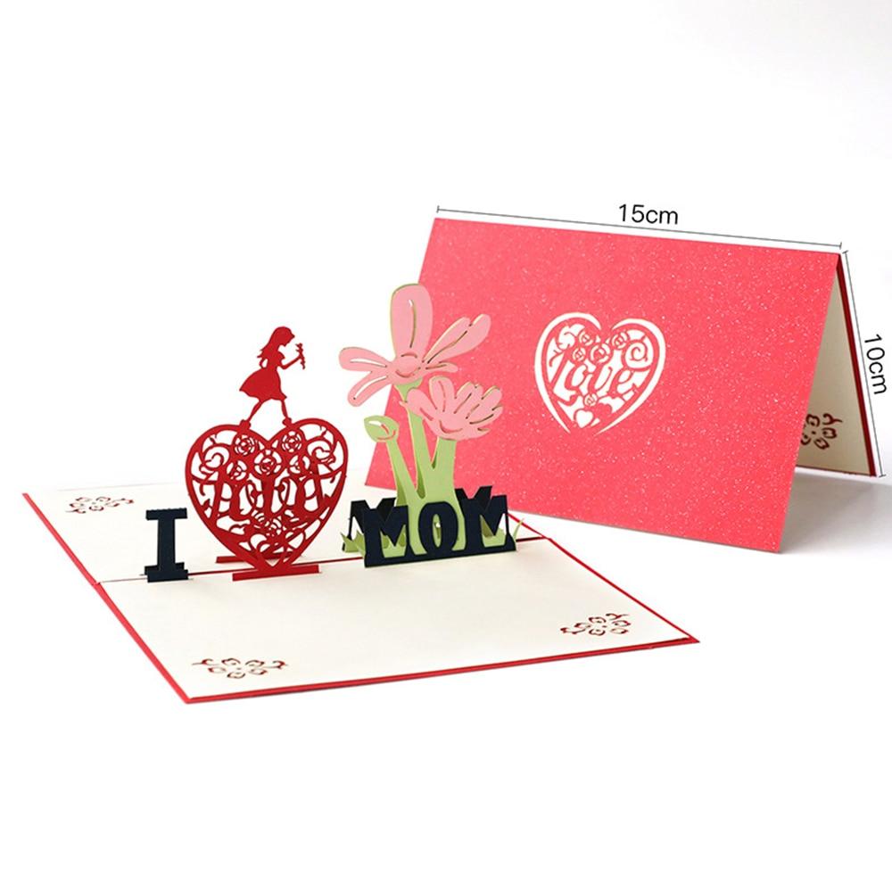 3D всплывающие открытки, открытка на день рождения для мамы, детей, жены, мужа, торт на день рождения, открытки, подарки, открытки с наклейки на...