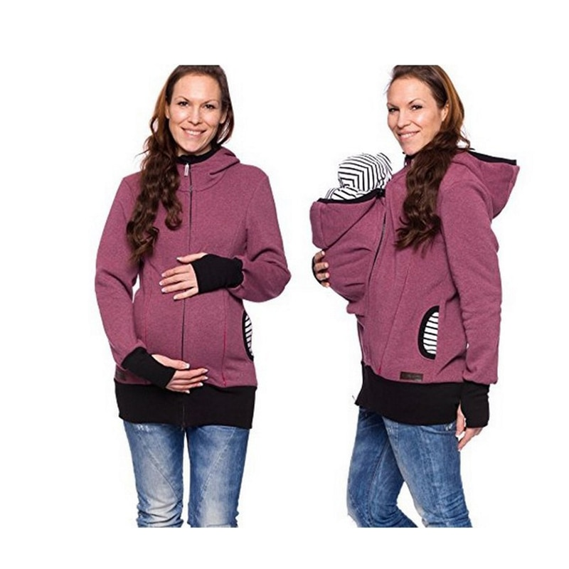 Keep Warm Baby Carrier Kangaroo Hoodie Winter Maternity Hoody Outerwear Coat for Pregnant Women Carry Baby Pregnancy Clothing enlarge