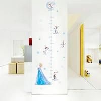 cartoon frozen princess growth chart wall decals kids rooms home decor disney height measure wall stickers pvc mural art