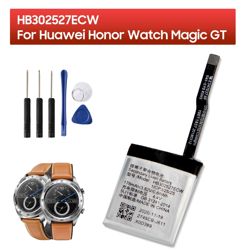 Original Replacement Battery HB302527ECW For Huawei Honor Watch Magic GT 178mAh enlarge