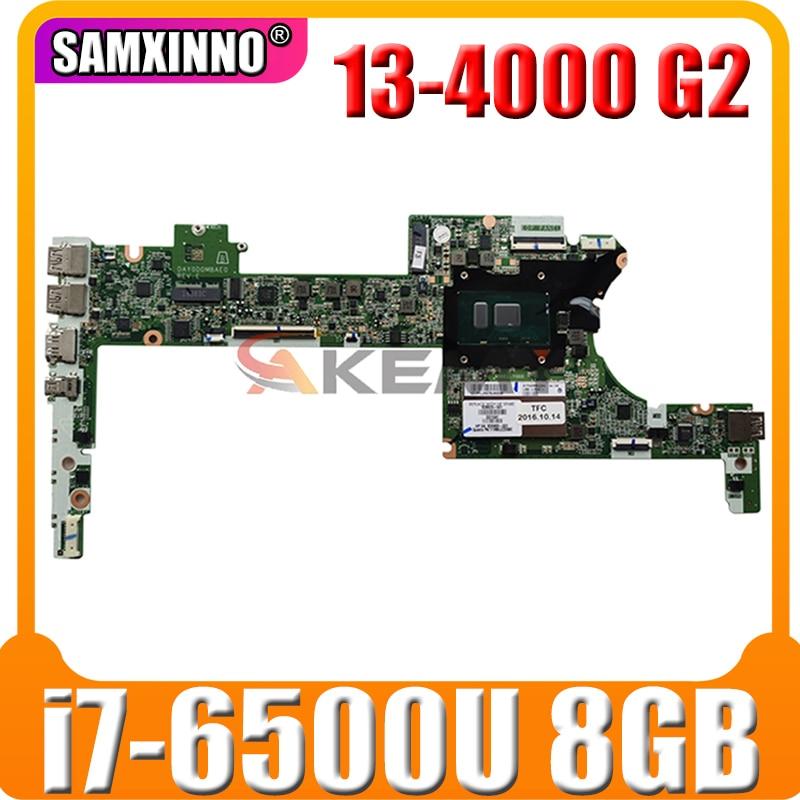 ل HP spece X360 13-4000 G2 اللوحة المحمول 828825-601 مع SR2EZ i7-6500u وحدة المعالجة المركزية 8GB RAM DAY0DDMBAE0 100% اختبار سريع السفينة