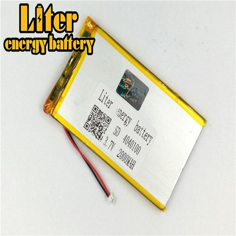 plug 1.5-2P 4040100 3.7V 2000mah Lithium Polymer Battery for Medical equipment, beauty equipment