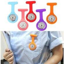 2021 New Silicon Clip-On Analog Digital Brooch Fob Medica Nurse Pocket Watch Gift Batteries Medical