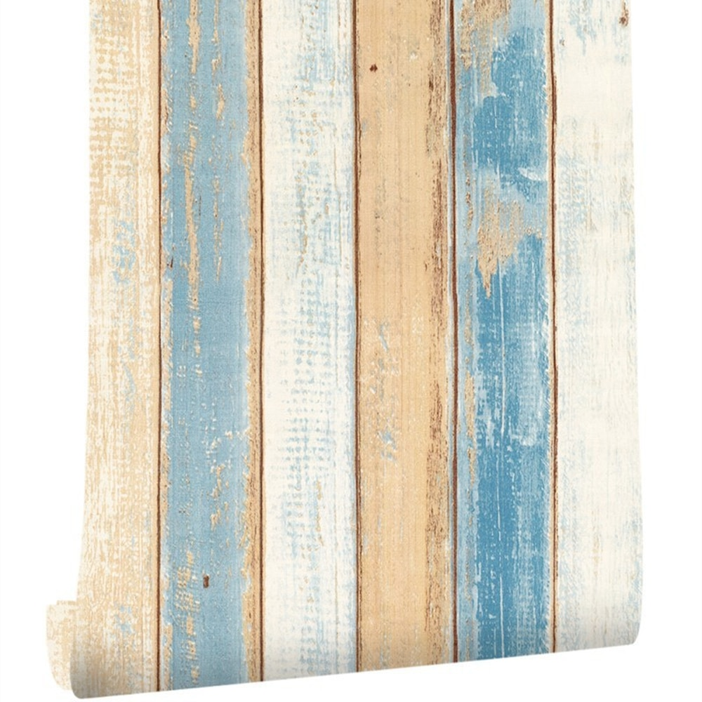 3d Водонепроницаемая настенная бумага, винтажная деревянная панель, настенная бумага для стен, самоклеящаяся контактная бумага для отеля, б...