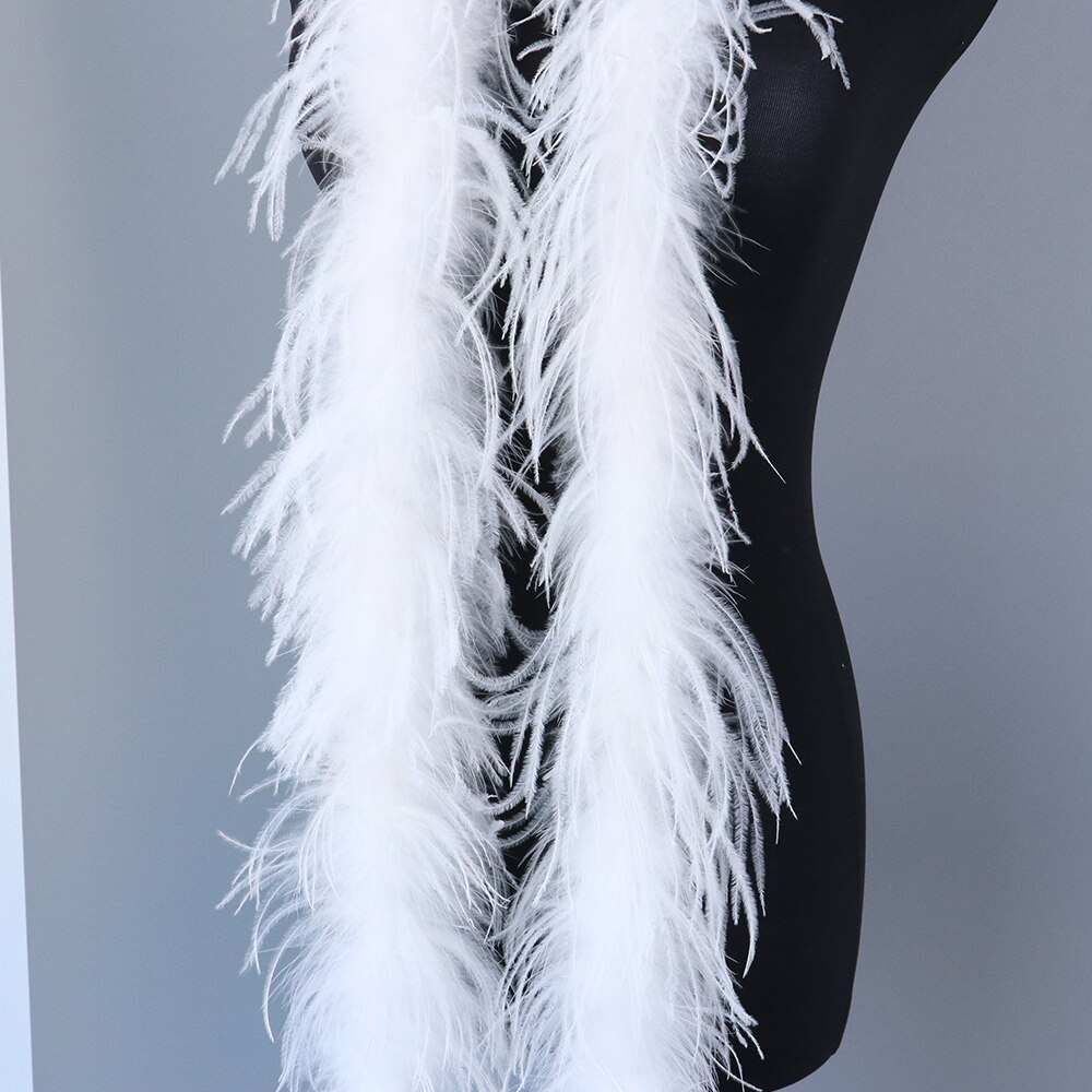 ¡Nuevo! 2 meters/pc Boa de plumas de avestruz boda/danza/accesorios de ropa/Tira de plumas de decoración 22 colores para elegir