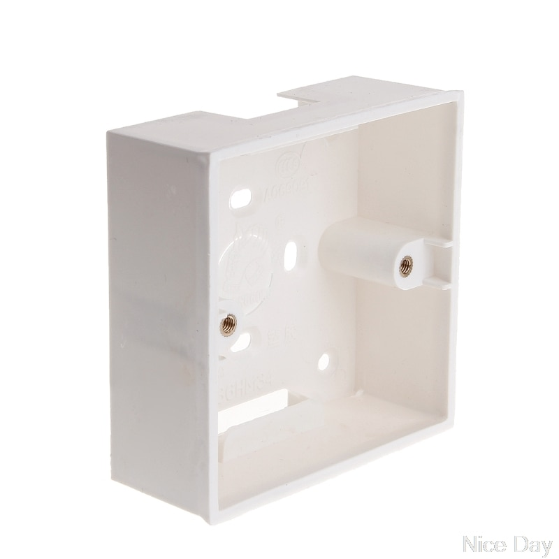 86X86 caja de conexiones de PVC Cassette de montaje en pared para interruptor Base de enchufe Ju12 20 Dropship